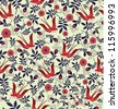 romantic pattern. vector illustration - stock vector