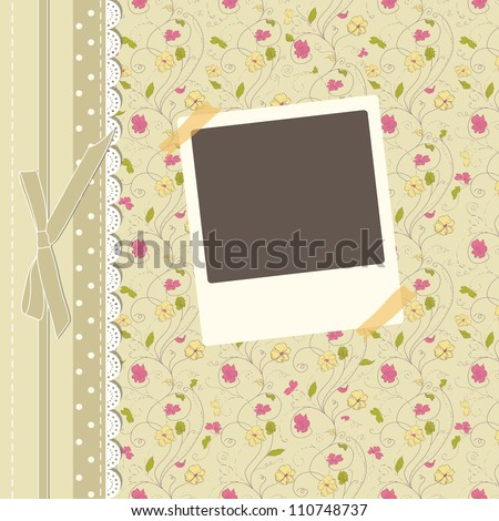 Romantic scrapbooking for invitation, greeting, happy birthday label, postcard frame, baby seamless texture, child album, children pattern, holiday card, color gift, vector eps 10