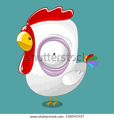 rooster on a square background