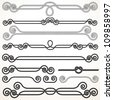 Rope Ornaments. Decorative Vector Design Elements - stock photo