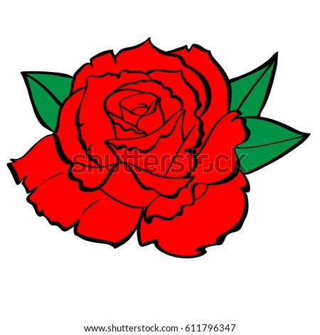 embroidery colorful floral pattern red roses stock vector rh shutterstock com rose vector art free rose vector free