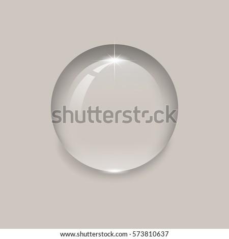 3d Empty Glass Sphere Vector Illustration Stock Vector