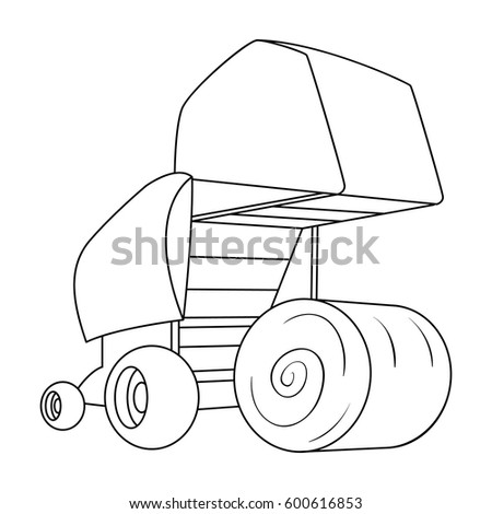 Hay bales free coloring pages for Hay coloring pages