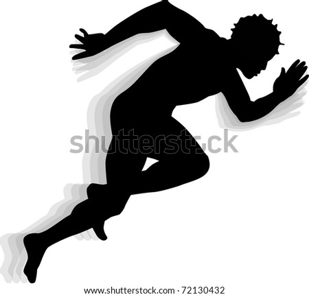 Displaying (19) Gallery Images For Male Runner Silhouette...
