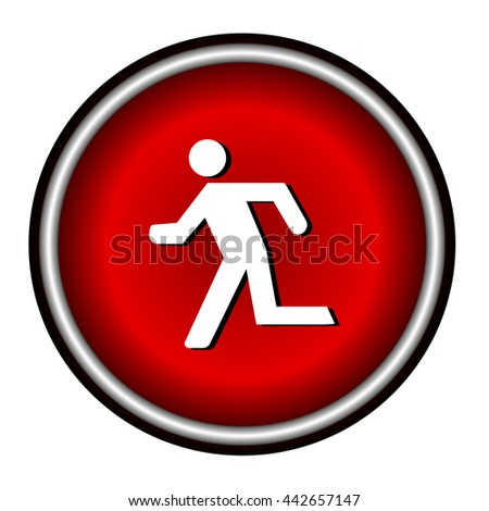 Running man icon on white background