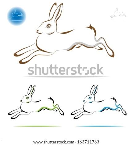 Running Rabbit Outline...