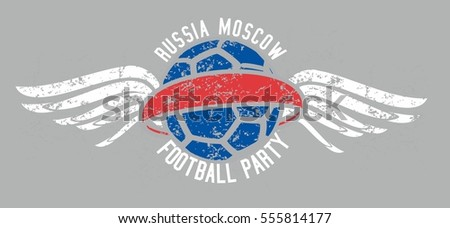 Russia flag color soccer ball graphic design vector art