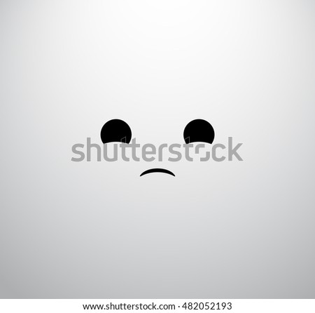 sad face icon,sad smile icon