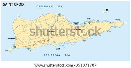 Us Virgin Islands Map Flag Stock Vector Shutterstock - Us map with virgin islands