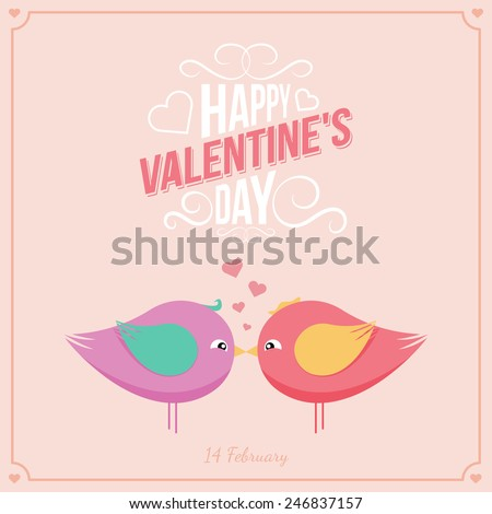 Saint Valentine's  Day background.Holiday backdrop and text. Card design. Eps 10 vector illustration.