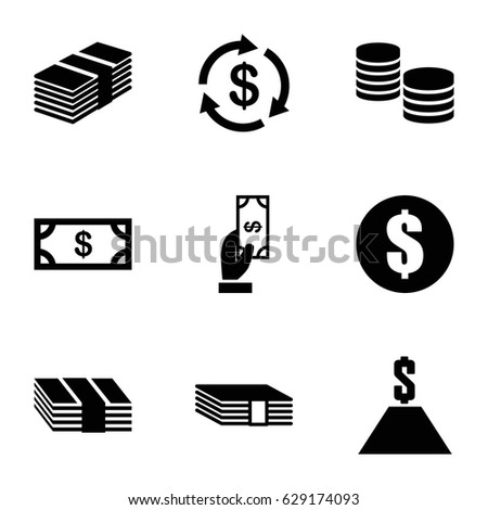 Money Icon Set Stock Vector 157240655 - Shutterstock