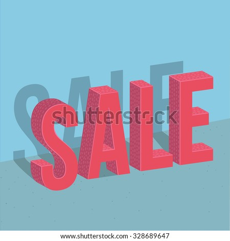 Sale discount text background illustration vector