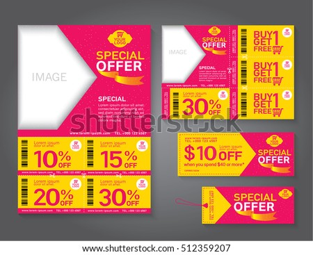 Sale Flyer Promotions Coupon Banner Design Stock Vector 517097083