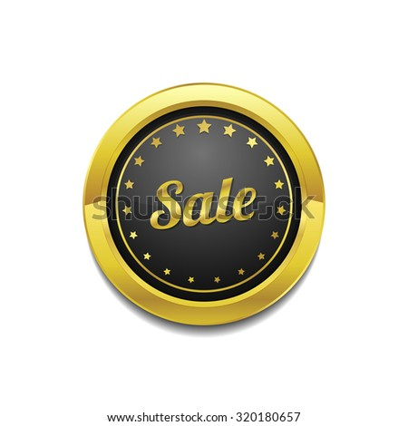 Sale Golden Vector Icon Button
