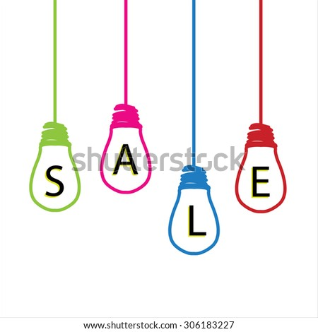 Tips Light Bulb Colorful Wires Hanging Stock Vector 311110097 ...