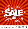 Sale poster with percent discount - stock vector