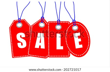 Sale. Price labels