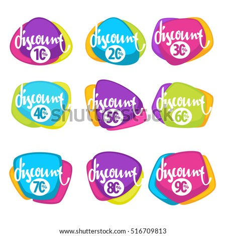 sale time, vector collection of bright discount bubble tags, banners and stickers