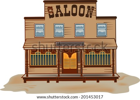 Western saloon stock vector 139314635 shutterstock for Miroir western