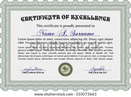 Certificate Achievement Vector Certificate Templatewith Linear