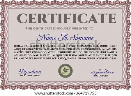 Certificate Template Vector Stock Vector   Shutterstock