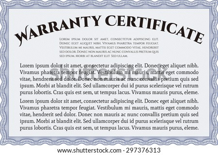 Template warranty very customizable complex background stock sample warranty certificate template complex frame with sample text very detailed yadclub Image collections