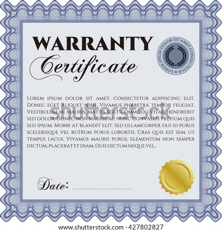 Vector Certificate Completion Template A Jpg Stock Vector