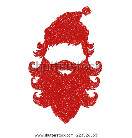 Santa Claus abstract isolated on a white backgrounds, vector illustration