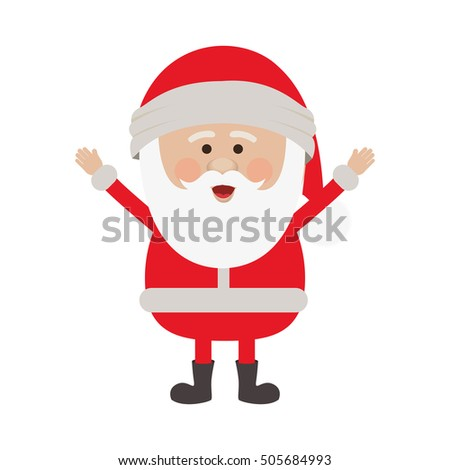 santa claus cartoon icon image