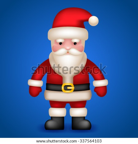 Santa Claus Character frost New Year Vector Illustration