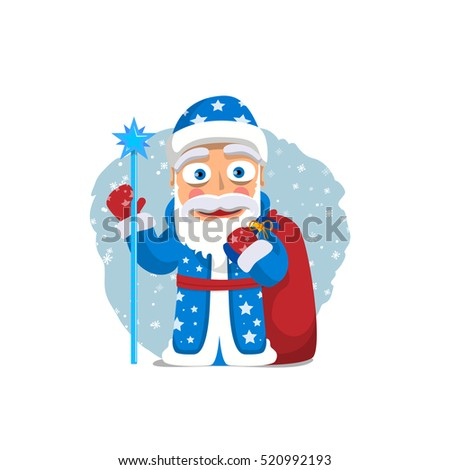 Santa Claus or Old Man Frost. New Year characters. Christmas characters.