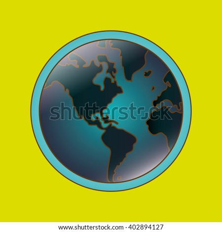 Save world design, vector illustration