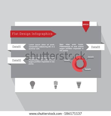 Ui Elements Web Mobile Flat Design Stock Vector 153613634 ...