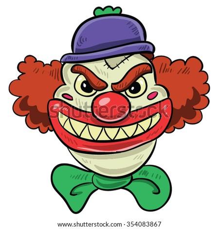 Demonic Clown Clip Art