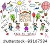 School doodle - stock photo