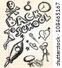 school doodles - stock photo