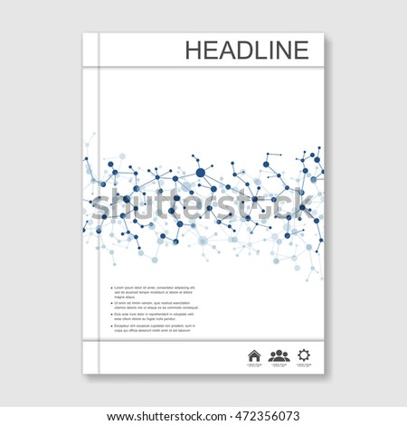 Scientific brochure design template vector flyer stock for Science brochure template