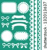 scrapbook collection. vector illustration - stock vector