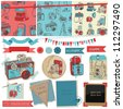 Scrapbook Design Elements - Vintage Photo Camera Scrap -  in vector - stock vector