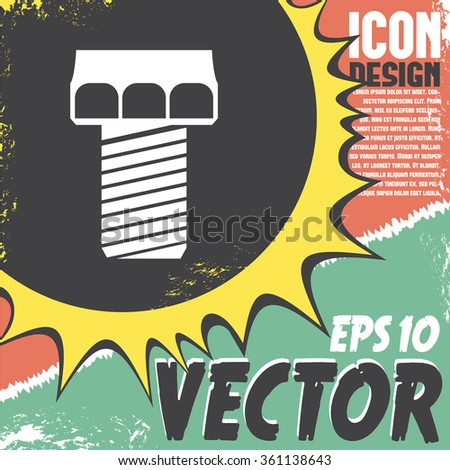 screw vector icon