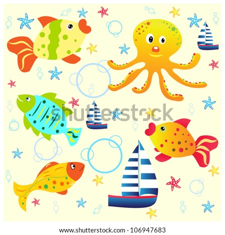 Sea life-cartoon