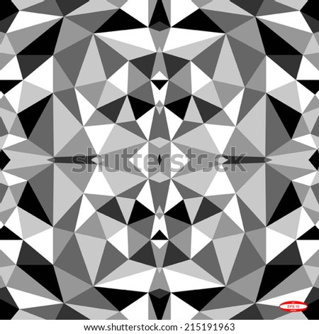seamless abstract black white pattern with triangle. vector