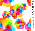 Seamless background. abstract colorful fantasy flowers in rainbow colors. Vector  - stock vector