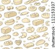 Seamless background with bakery - stock vector