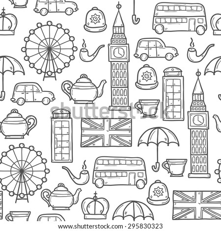 London Icons Stock Vector 113456932 Shutterstock