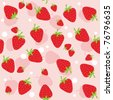Seamless background with strawberries. Vector illustration - stock vector