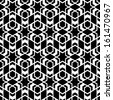 Seamless black-and-white pattern. Abstract geometric illustration. - stock photo