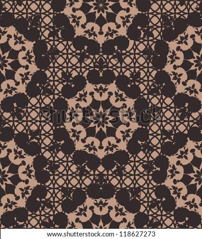 Crochet Patterns Vector : Seamless black lace pattern. Vector illustration - stock vector