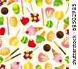 seamless candypattern - stock vector