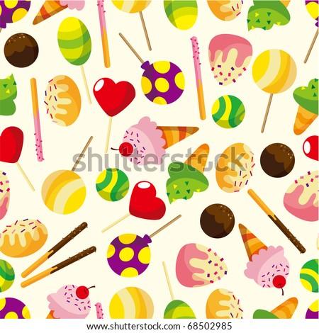 stock vector seamless candypattern 68502985 - Каталог — Фотообои «Еда, фрукты, для кухни»